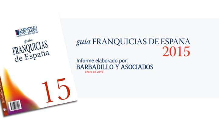 Barbadillo y Asociados lanza al mercado la Guía de Franquicias de España 2015